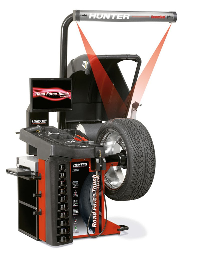 Hunter Road Force Touch Gsp9700 Wheel Balancer Fast